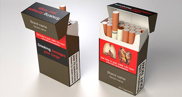 Cigarettes in plain packaging