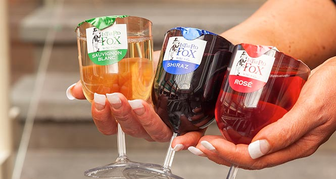Intrepid fox launches direct delivery for small customers Wine glasses to go