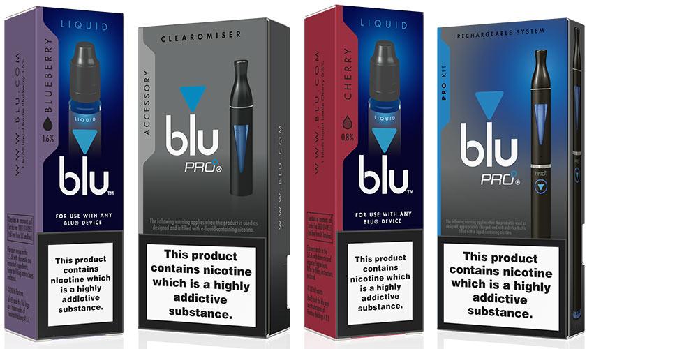 blu e-cigarettes range
