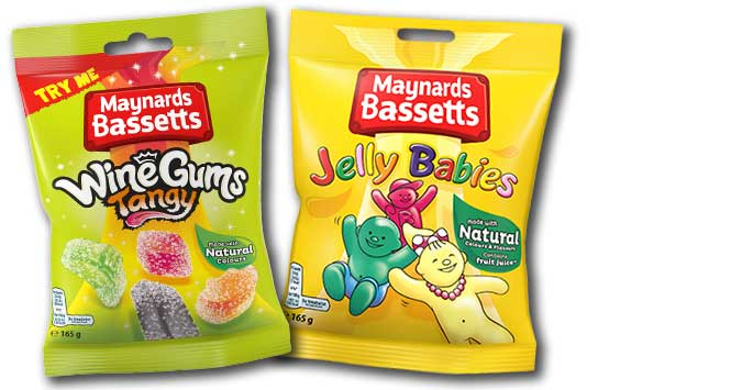 Jelly Babies and Wine Gums bags