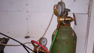 Oxy-acetylene gas bottles