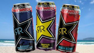 Rockstar's Baywatch promotion cans