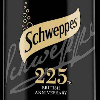 Schweppes anniversary packaging