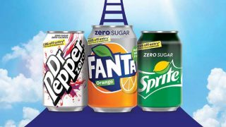 Dr Pepper, Fanta and Sprite cans