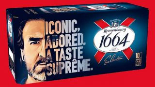 Cantona-branded pack of Kronenbourg