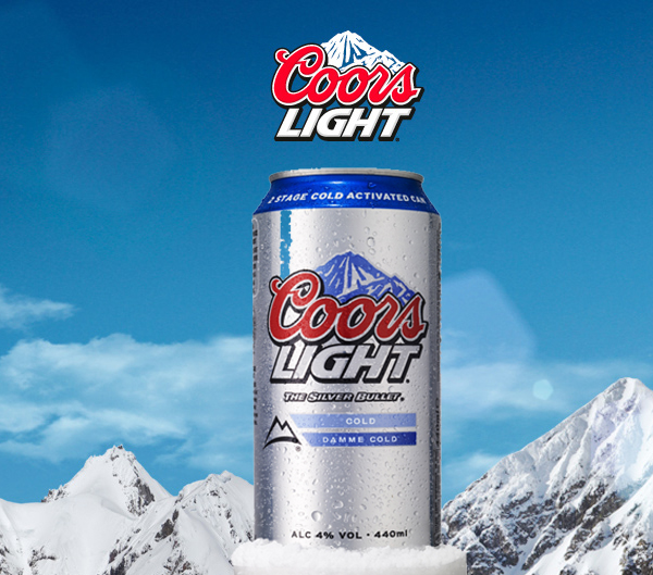 Coors light gets damme cold with new campaign scottish local molson coors has introduced a two stage cold activation to coors light 440ml 500ml cans and 330ml bottles and retailers could win a transit van as part of aloadofball Image collections