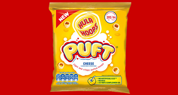 Packet of Hula Hoops Puft crisps