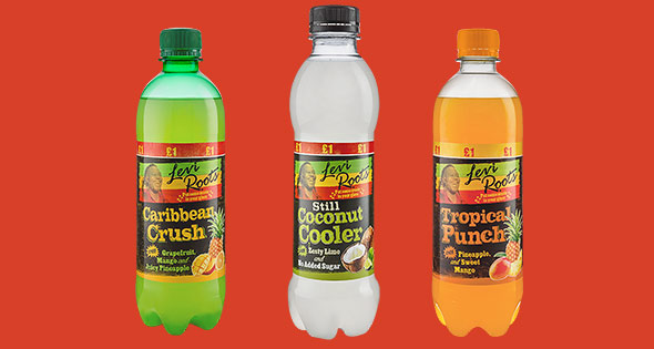 Bottles of Levi Roots soft drinks