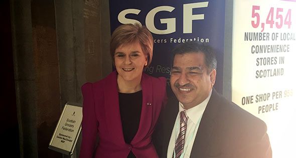 Nicola Sturgeon and Abdul Majid