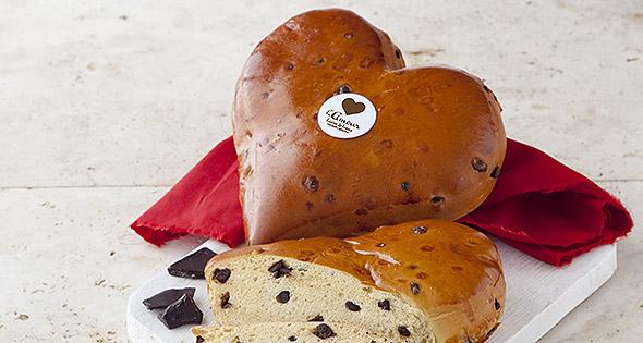 Heart-shaped loaf