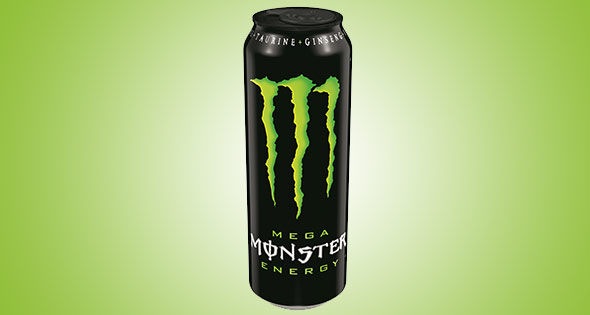 Can of Mega Monster energy drink