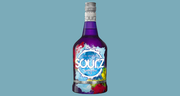 Bottle of Sourz Rainbow Ice