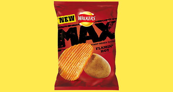 Pack of Walkers Max Flamin' Hot Crisps