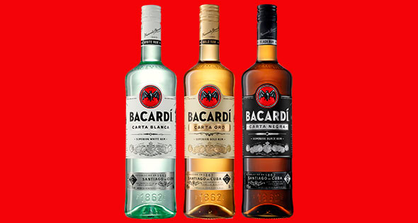 Bottles of Bacardi