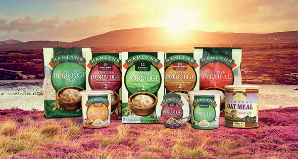Hamlyns range of breakfast oats