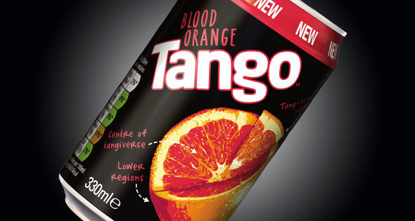 Can of Tango Blood Orange flavour