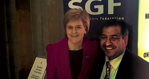 Nicola Sturgeon with Abdul Majid