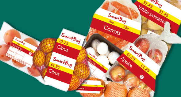 Londis-branded fruit and vegetables