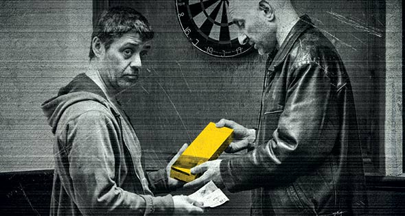 Criminal selling carton of cigarettes in pub