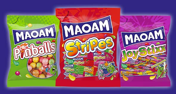 Bags of Maoam sweets