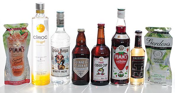 Diageo summer drinks range