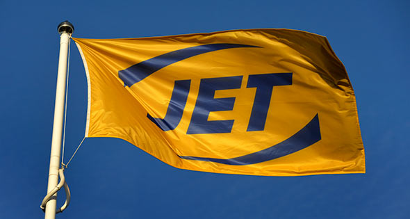 Flag with Jet logo