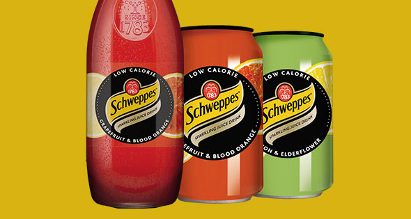 Schweppes sparkling juice drinks