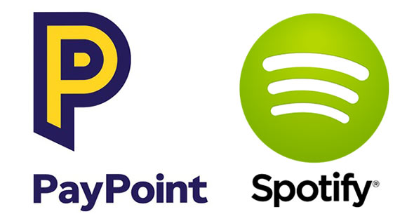 Paypoint and Spotify logos