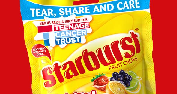 Teenage Cancer Trust promotional pack of Starburst