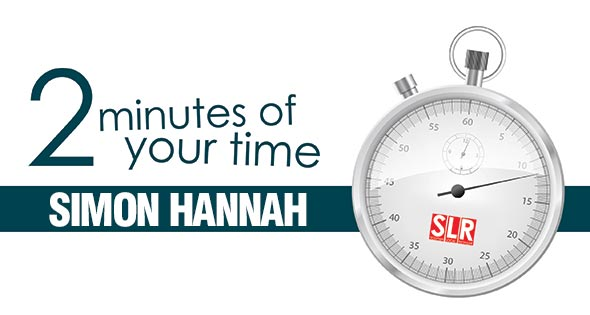 2 minutes of your time: Simon Hannah