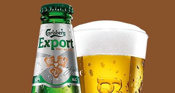 Bottle of Carsberg Export