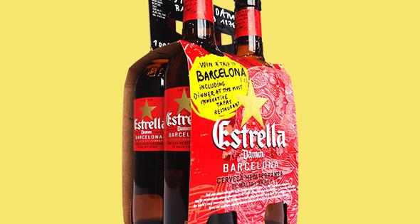 Estrella Damm four pack