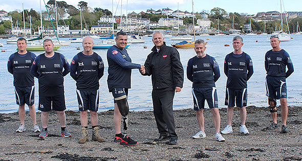 Help for Heroes rowing team