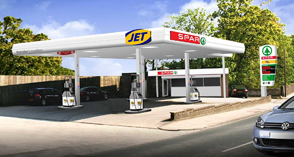 Spar-branded Jet filling station
