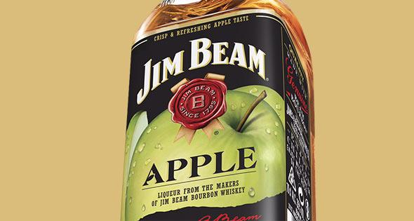 Bottle of Jim Beam Apple