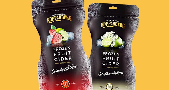 Kopparberg frozen fruit cider pouches