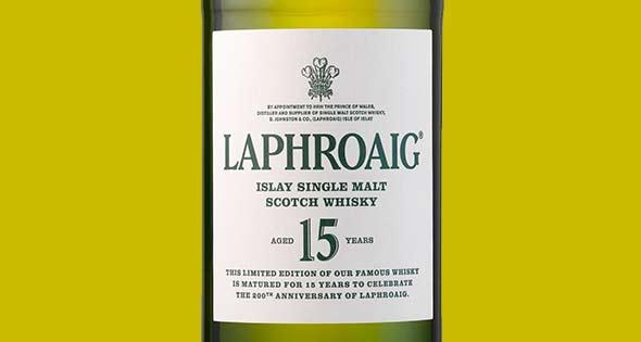 Bottle of Laphroaig 15 year old