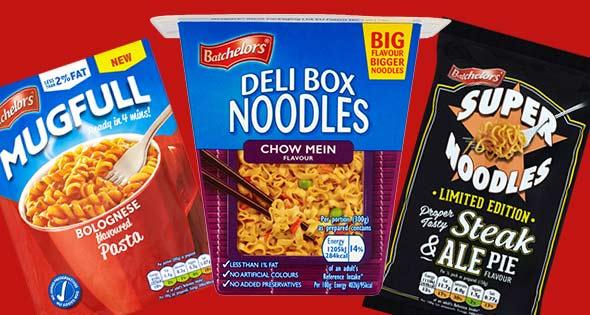 Batchelors Super Noodles, Deli Box and Mugfull