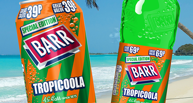 Barr Tropicoola pricemarked packs