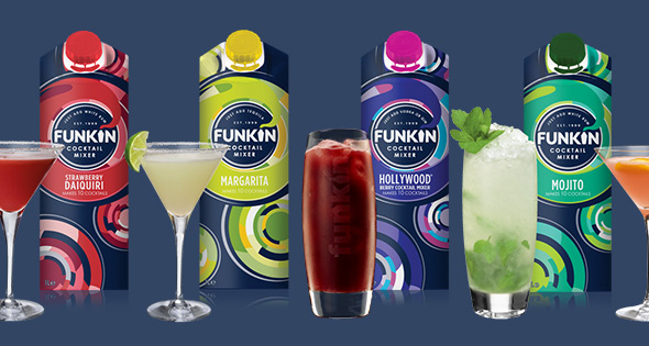Funkin range of cocktail mixers