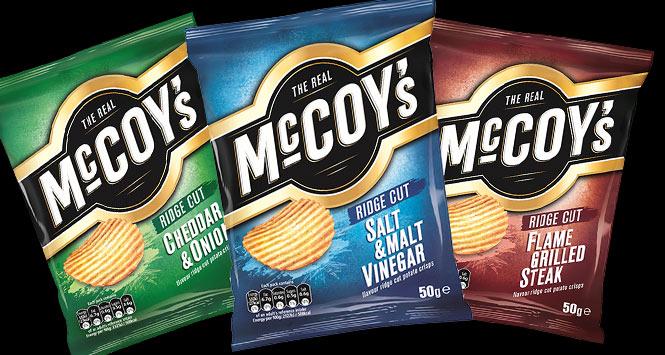 New look packs of McCoy's crisps