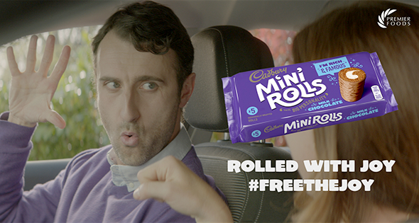 Still from Mini Rolls TV ad