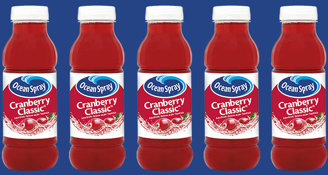 Ocean Spray Cranberry Classic 330ml bottles