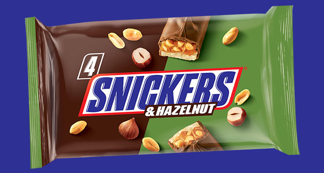 Snickers and hazelnut four pack