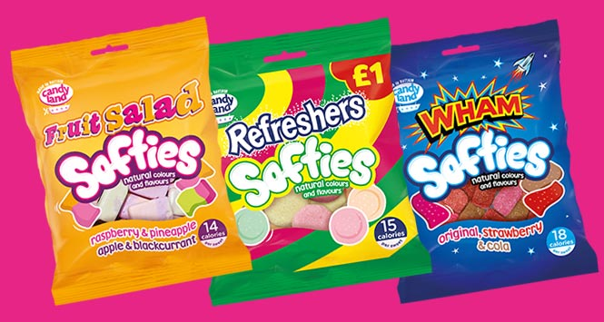 Refreshers, Fruit Salad and Wham Softies sweets