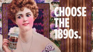 Choose the 1890s. Vintage Coca-Cola advert.