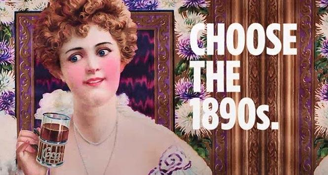 Choose the 1890s. Vintage Coca-Cola advert.