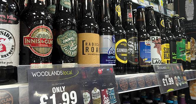 Woodlands Local's range of craft beers