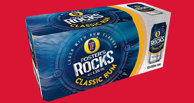 Foster's Rocks rum flavoured beer