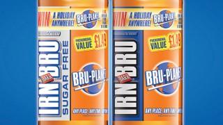 Irn-Bru Bru Planet promotional bottles